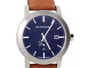 Burberry Men's Swiss Chronograph the City Brown Leather Strap