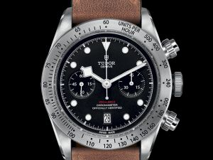 Tudor Black Bay Chrono with Aged Leather-strap