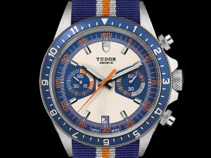 Tudor Heritage Chrono Blue with Fabric Strap