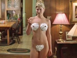Darcy in Varsity Blues Whipped Cream Scene