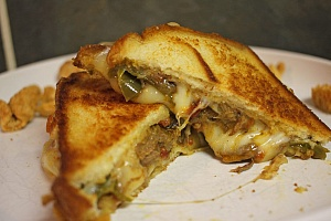 Chili Grilled Cheese Sandwich