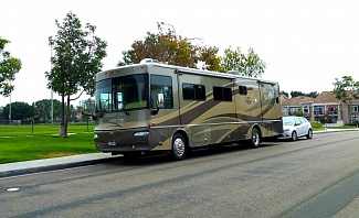 Class A RV - motorhome parked in San Diego