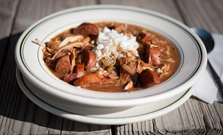 A Bear's Cafe Gumbo in celebration of National Gumbo Day