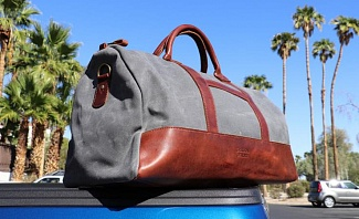 Jackson Wayne Leather and Canvas Weekender Bag