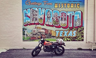 Navasota Texas on a motorcycle trip across the United States