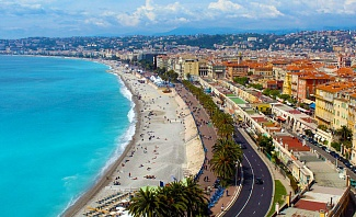 Mediterranean beach in Nice France