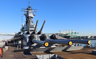 San Pedro California is home to the Battleship USS IOWA