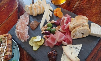 charcuterie and cheese board at The Pink House in Genoa Nevada