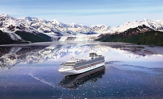 Princess Cruise Ship In Glacier Bay Alaska