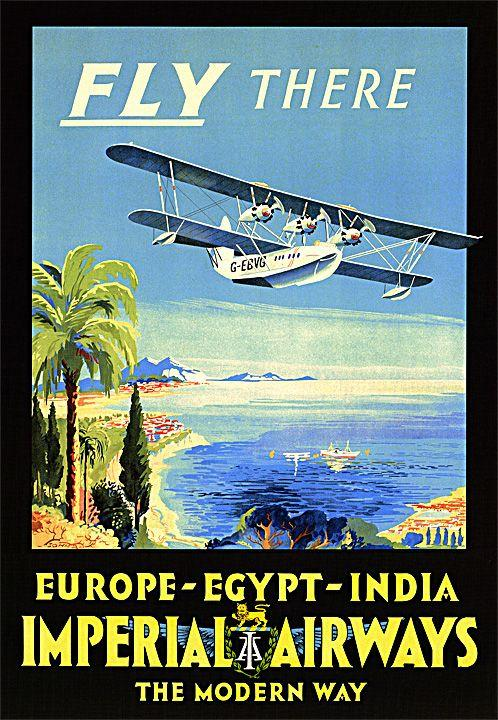 fly there on imperial airways the modern way