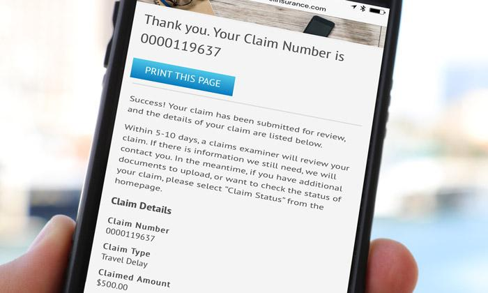 allianz travelsmart app allows customers to submit claim via mobile app