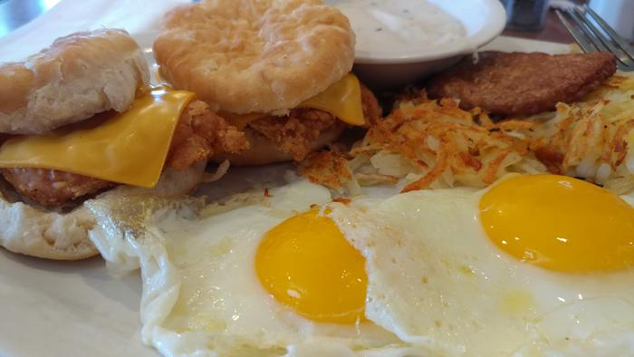 chicken fried chicken biscuits breakfast perkins