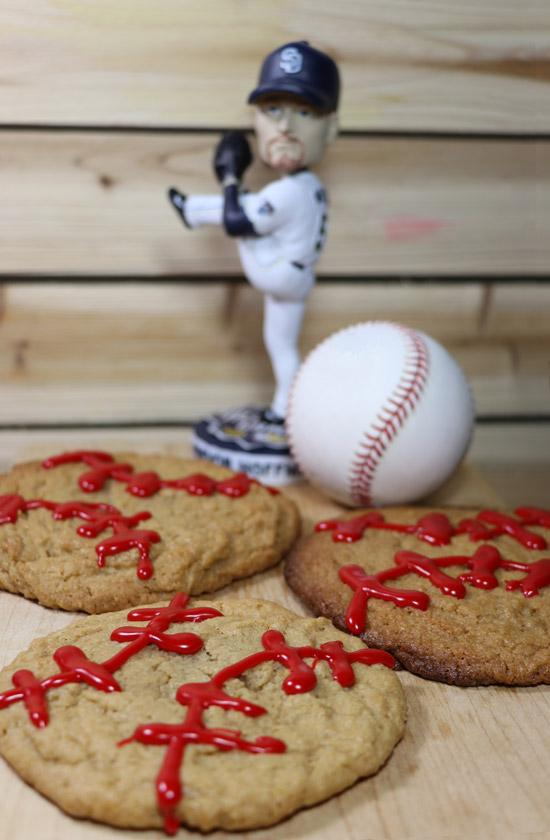 gluten free flourless peanut butter baseball cookies recipe