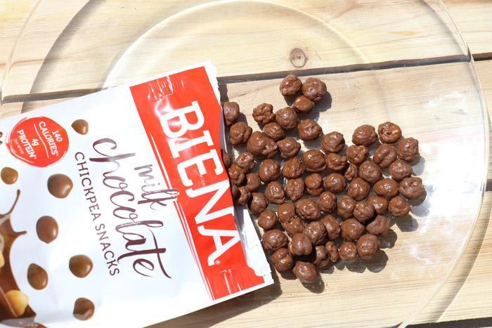 milk chocolate biena chick pea snacks