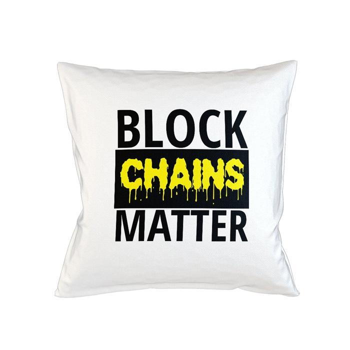 block chains matter tee pillow