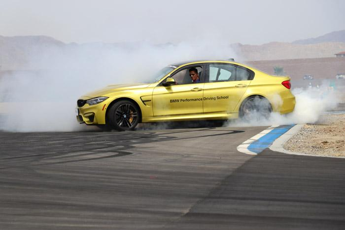 hot lap burnout bmw m3 bmw performance driving center thermal california