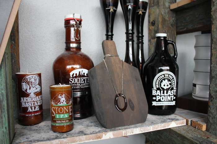 Bottles & Wood reclaimed glass and wood from beer, wine, and spirits companies