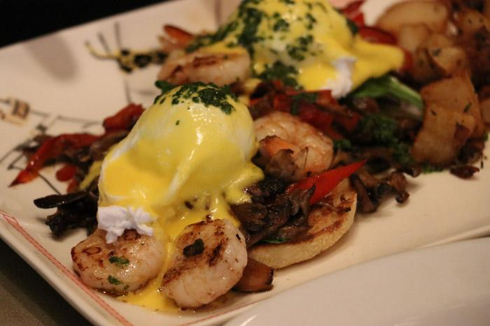 shrimp eggs benedict