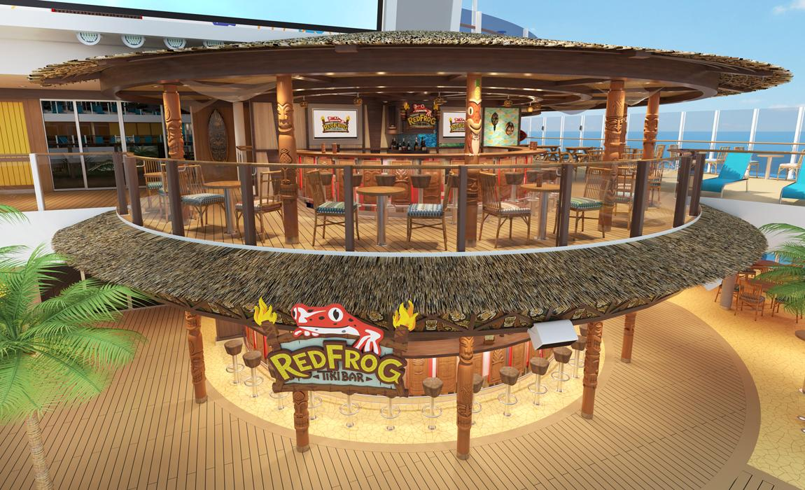 Red Frog Tiki Bar on Carnival Mardi Gras