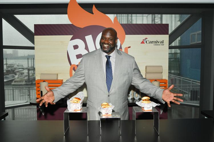 shaq introduces big chicken
