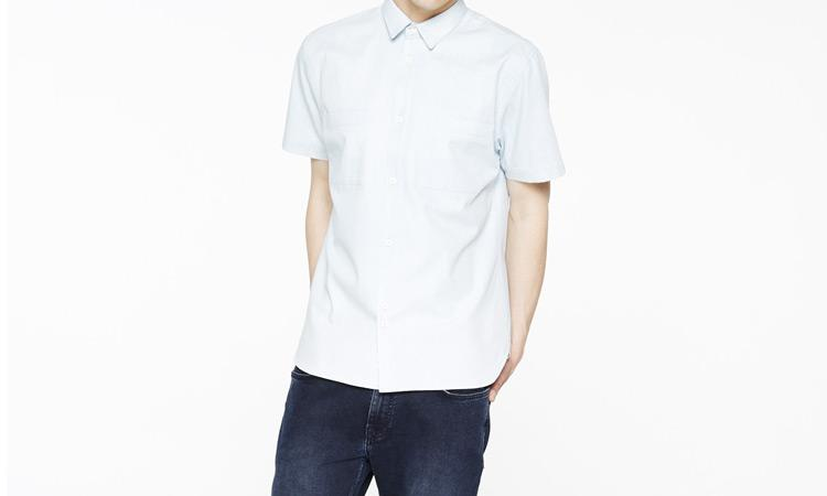 bellfield denim hobken shirt