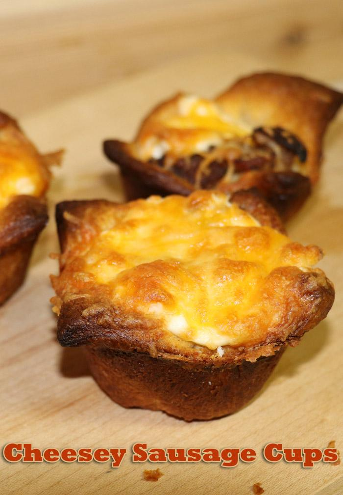 cheesey sausage cups pinterest