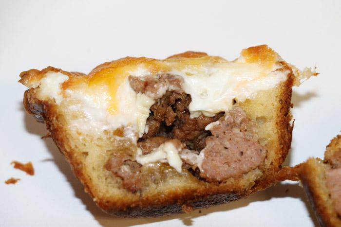 cheesey sausage cups sliced