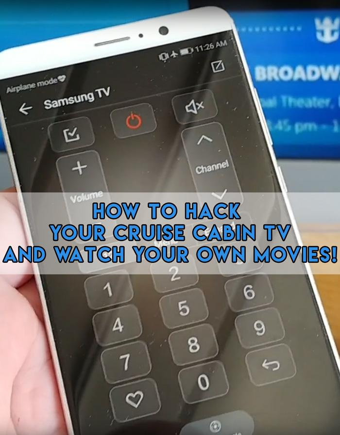 how to hack your cruise cabin tv and watch your own movies