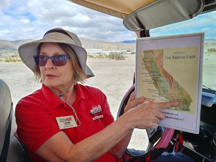 our red jeep tour guide lane desert adventures palm springs california