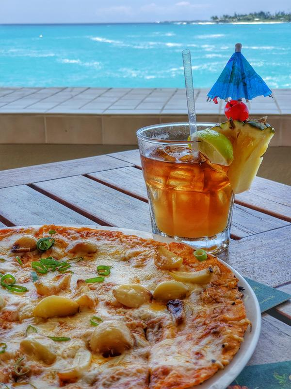 don the beachcomber original mai tai and garlic crisp at royal kona resort hawaii