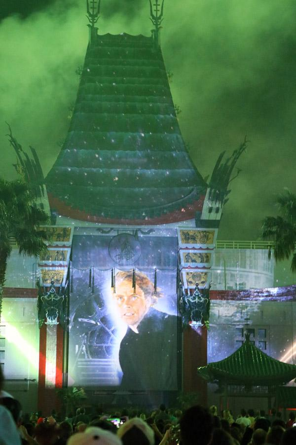 star wars light show at hollywood studios