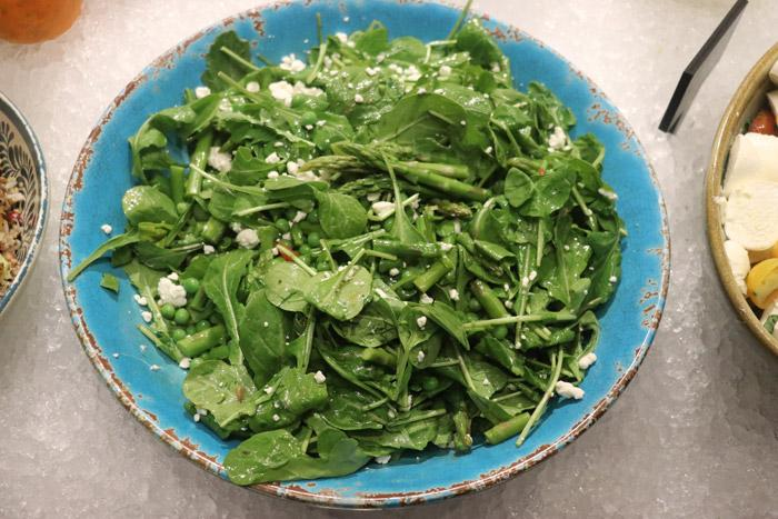 aspargus and spring pea salad