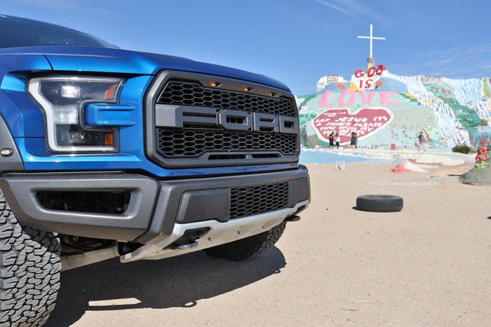 ford raptor salvation mountain