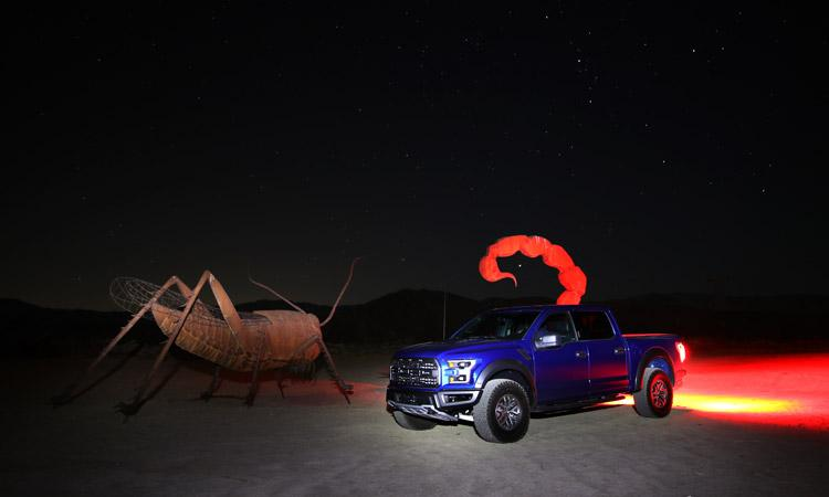 light painting ford raptor scorpion