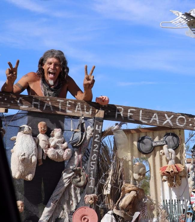 slab city california caribe peace man