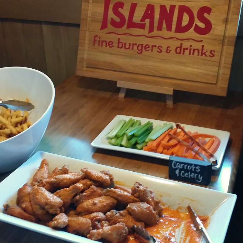 Islands Happy Hour Burgers Tiki Drinks Wings Football
