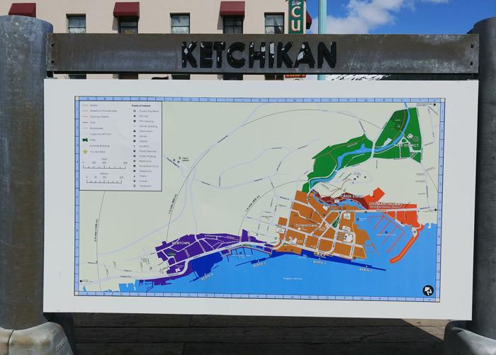map of downtown kethikan alaska