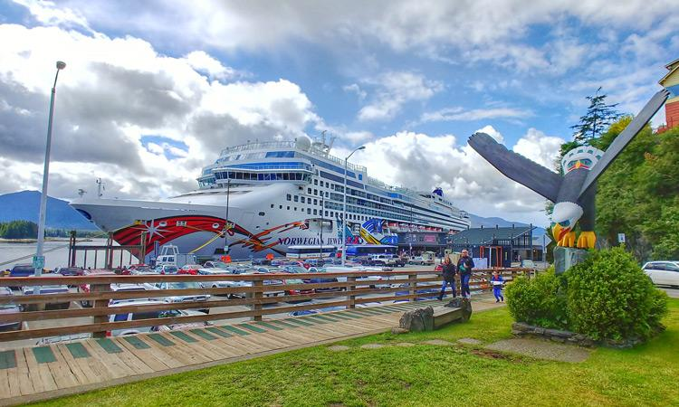 Norwegian Jewel cruise ship in Ketchikan Alaska