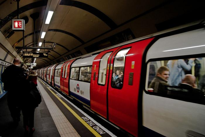 London underground tube train