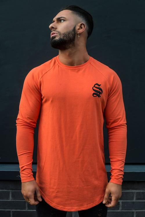 sinners orange long sleeve tee fashion tips for wearing long sleeve tee shirts