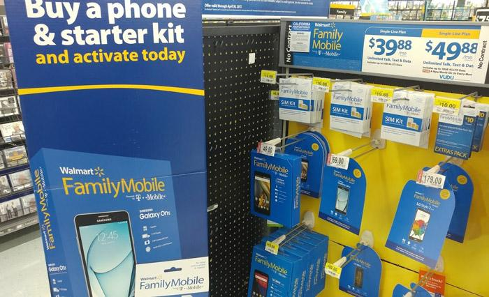 walmart family mobile display