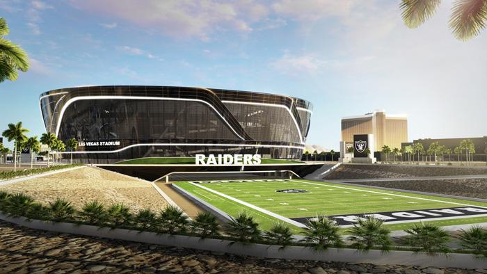 las vegas stadium outside view raiders
