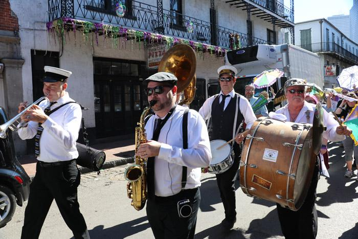 brass band in bourbon street parade copy