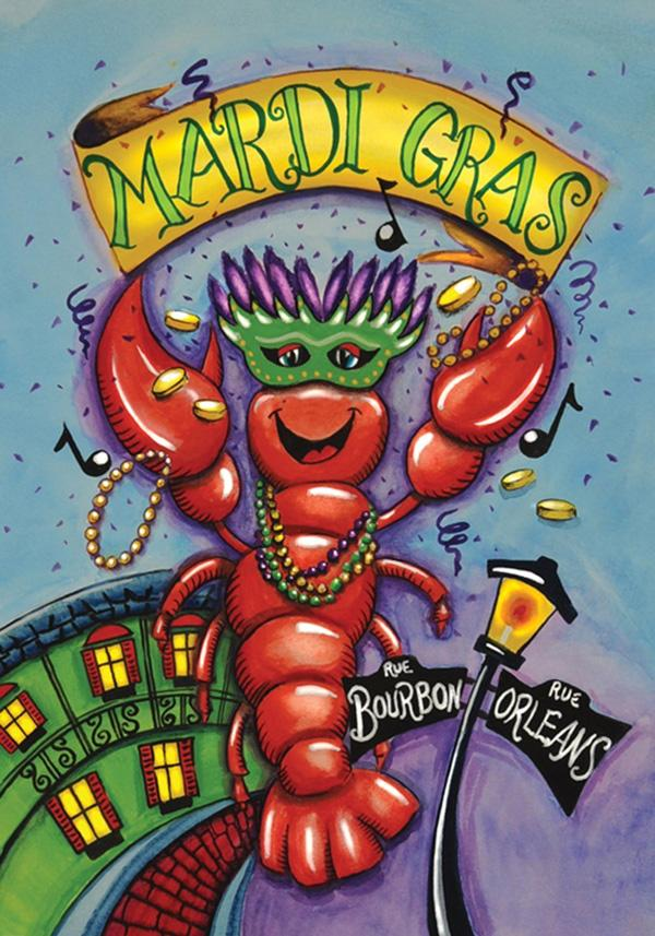 new orleans mardi gras crawfish decorative party flag