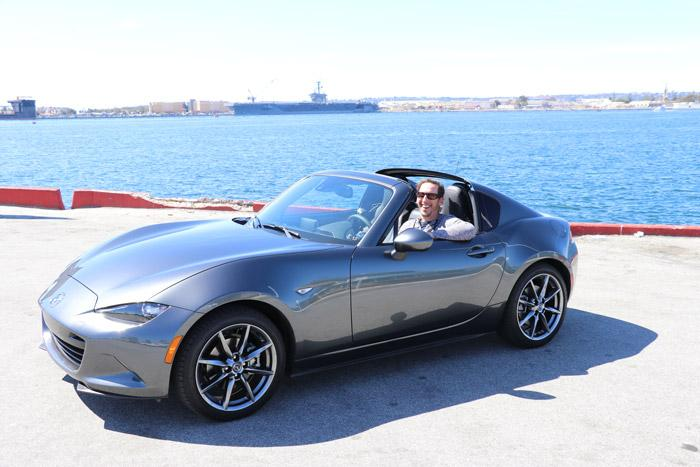 silver mx 5 rf with passenger