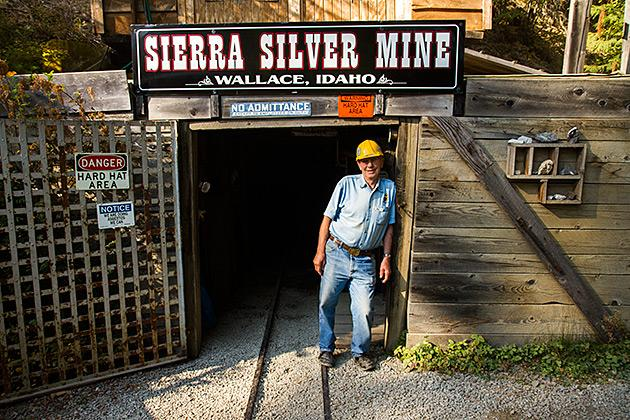 mining tour silver mine wallace idaho