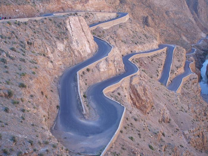 twisty mountain roads in morocco perfect for motorcycle trips