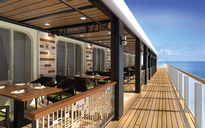 cagneys steak house outdoor seatting norwegian bliss