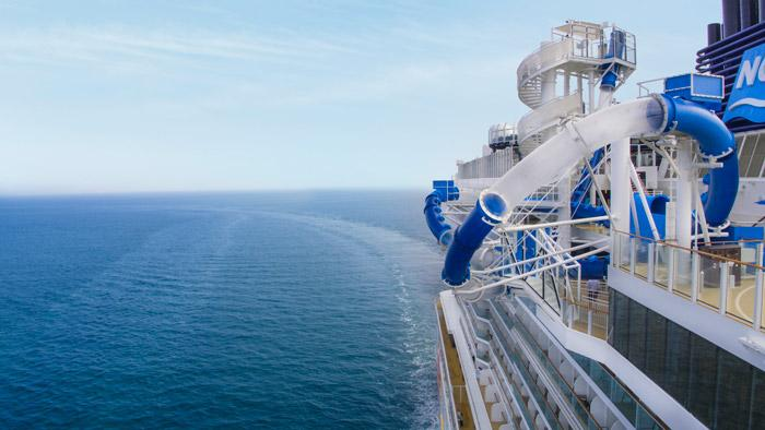 ocean loops waterslide on norwegian bliss