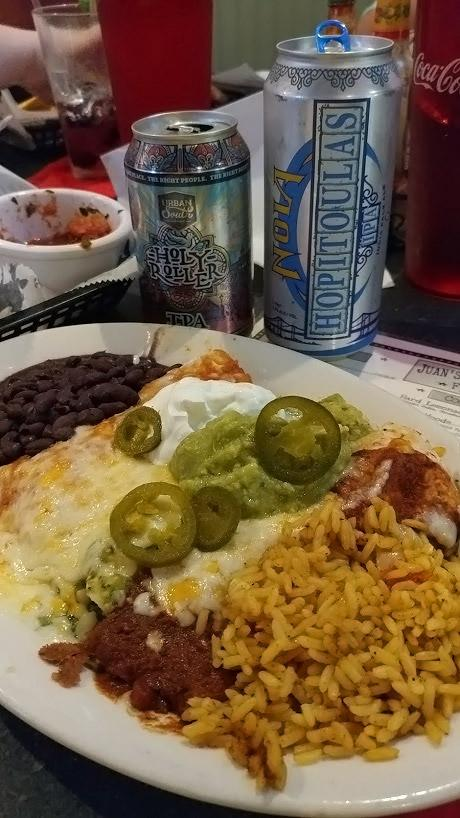 Jaun's Flying Burrito - enchiladas are delicious!